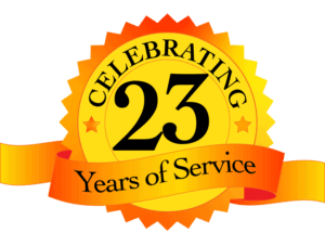celebrating 23 years of service